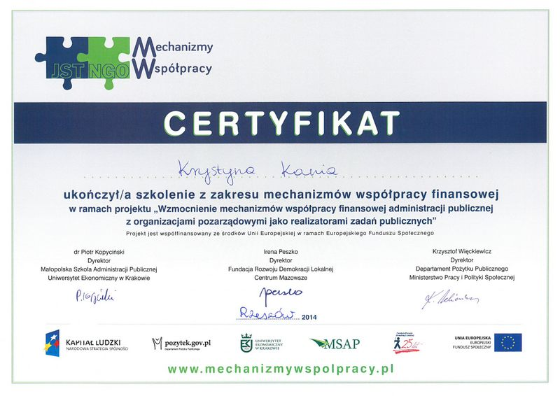 Mechanizmy współpracy finansowej